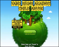 Yard Signs Against Child Abuse